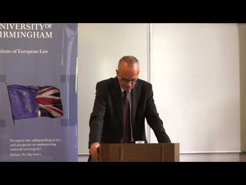 Sir Stephen Wall - Leaving Europe keynote address - YouTube