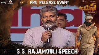 S.S. Rajamouli Speech | KGF (Telugu) Pre Release Event | Yash | Srinidhi Shetty | Prashanth Neel