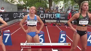 CITIUS Bern 2018   Pre-Program   100m WOMEN