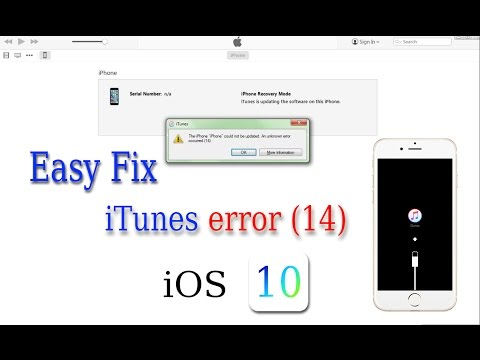 Easy Fix iTunes Error 14 iOS 10.0.1 while Installing or Update - 100% Solved