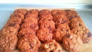 Old Fashioned Oatmeal Cookies - Chocolate Banana Flavour - No Eggs !