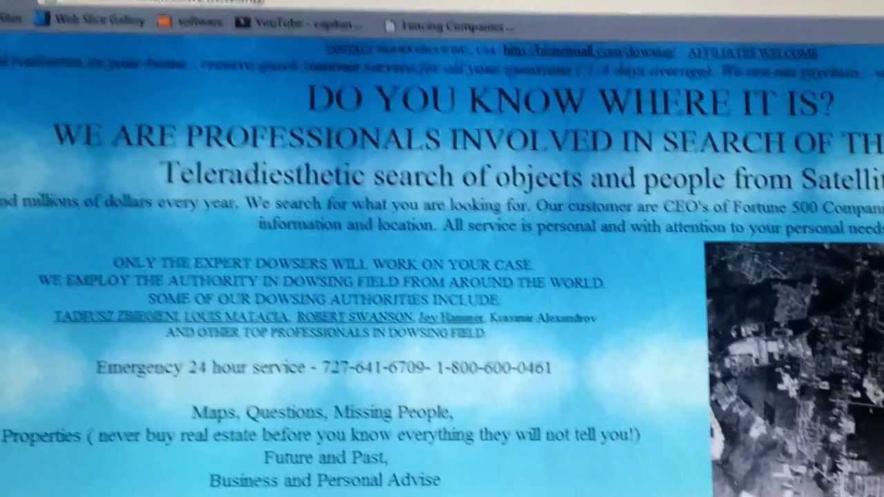 DOWSING SERVICES, FINDING MISSING PEOPLE, FUTURE PREDICTIONS
