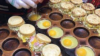 촉촉한 베이컨 계란빵, 새우 계란빵, 문어 계란빵 / …