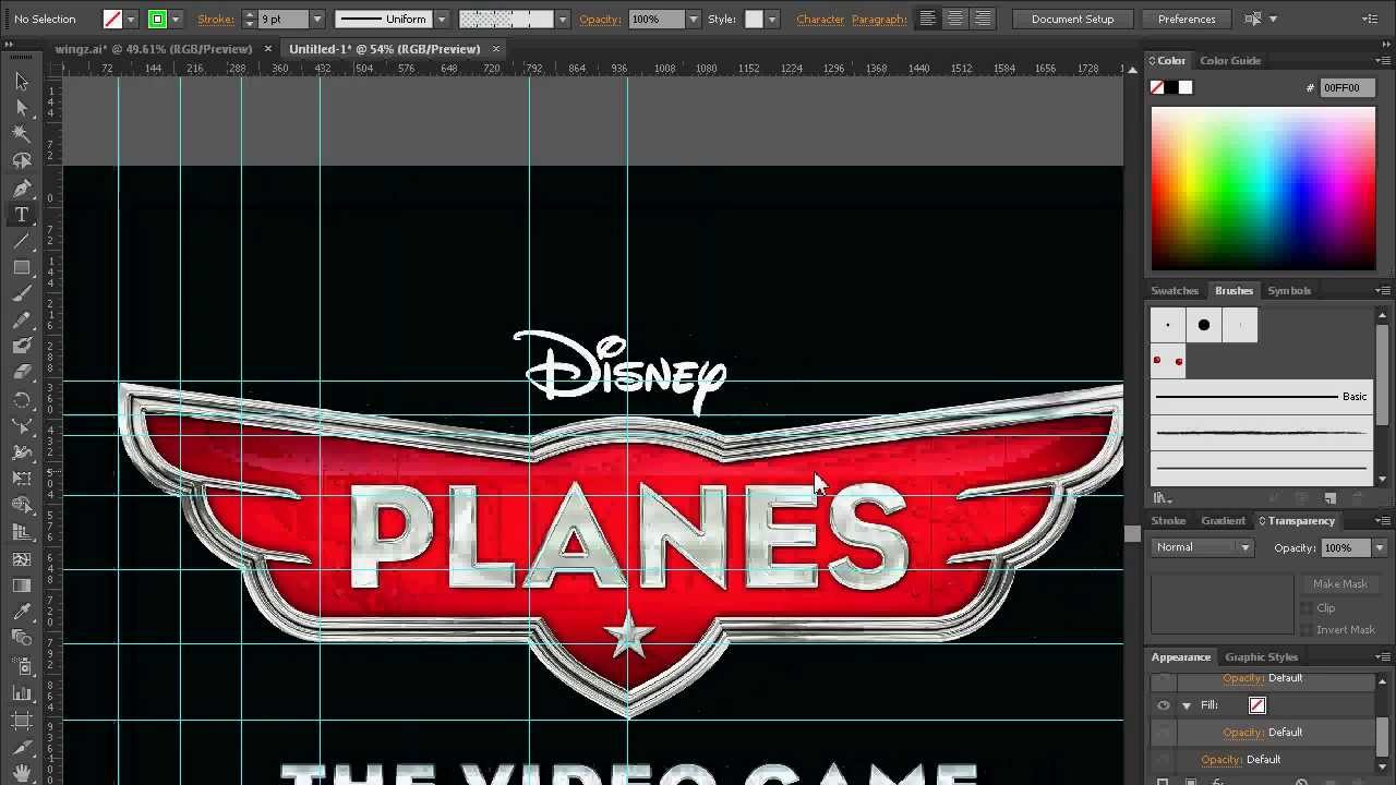 Disney Planes Logo Tutorial Adobe Illustrator Pt1 - YouTube