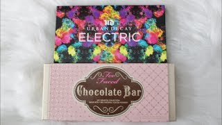 {Closed} Giveaway: Too Faced Chocolate Bar Eyeshadow Palette & Urban Decay Electric Thumbnail