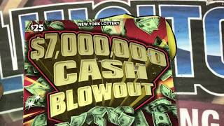 NY Lottery 2-$25 $7,000,000 Cash Blowout $50 Session