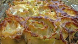 Pesto Chicken Alfredo Lasagna Rolls