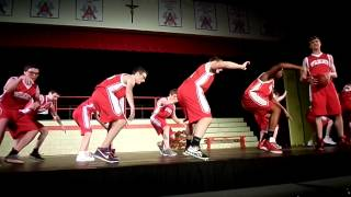 high school musical on stage 2014 part 4 get cha head in the game