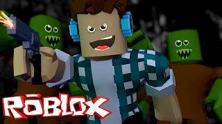 Roblox - FUJA DOS ZUMBIS !! (Roblox Zombie Rush)