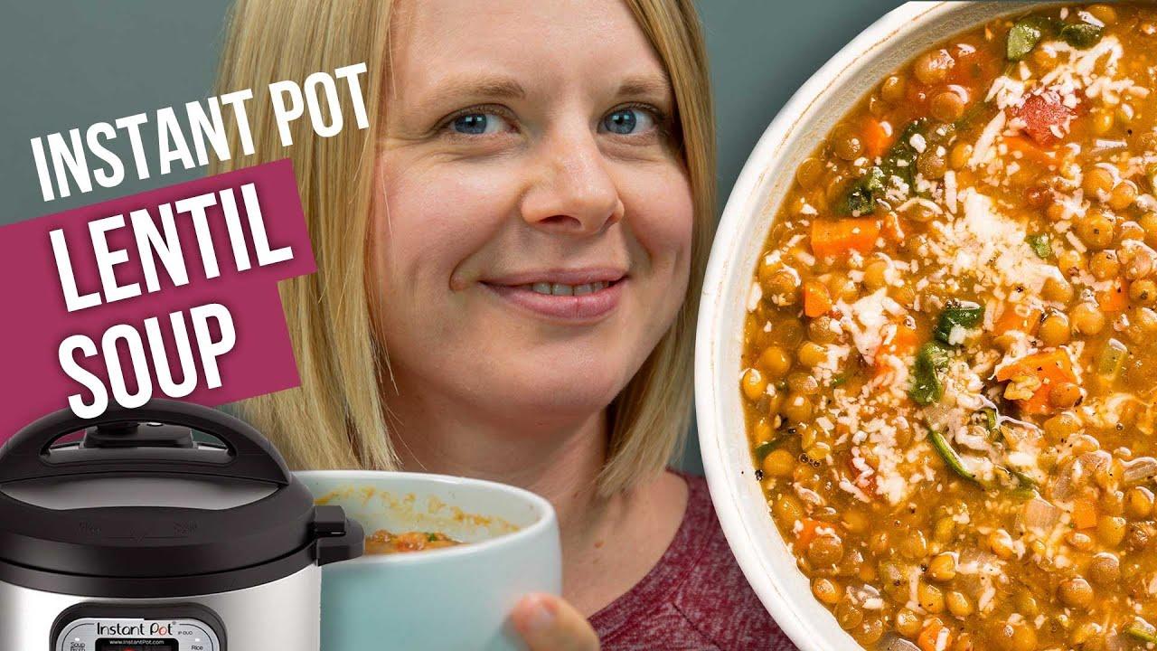 The Best Instant Pot Lentil Soup Recipe No Sauteing Youtube