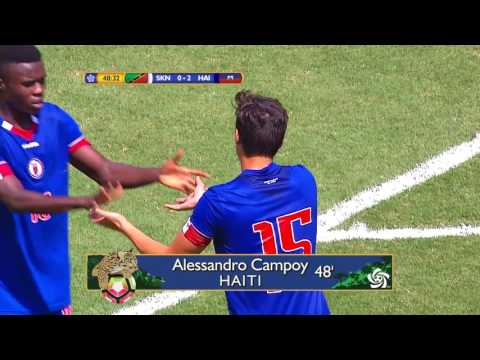 CU20 2017: St Kitts & Nevis vs Haiti Highlights