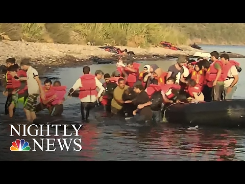 Syrian Refugees Escaping ISIS Put Lives at Risk on Dangerous Seas | NBC Nightly News