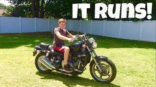 THE MOTORCYCLE RUNS!