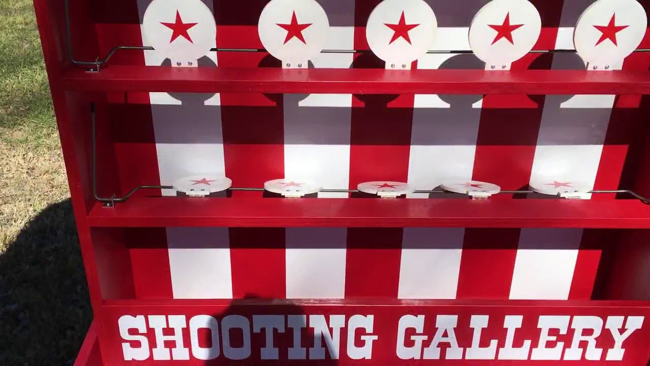Deluxe Nerf Shooting Gallery Carnival Game Youtube