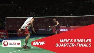Qf | Ms | Kento Momota (jpn) [3] Vs Lin Dan (chn) | Bwf2018