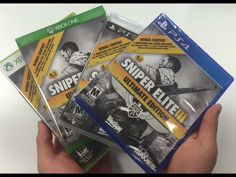 Sniper Elite 3 Afrika [Ultimate Edition] (PS3 / PS4 / Xbox 360 / Xbox One) Unboxing!!