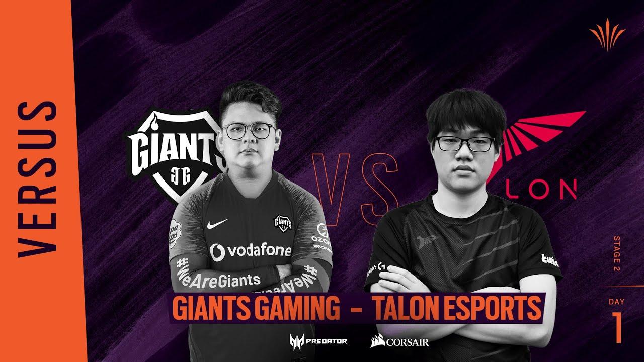 Giants Gaming vs Talon Esports // Rainbow Six APAC North Division 2020 - Stage 2 - Playday #1