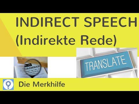 Indirect speech / reported speech - Indirekte Rede | EnglischGrammatik 3