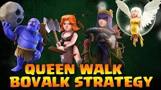 Th9 BoValk + QUEEN WALK Angry angels event coc | BoValk Th9 | Clash Of Clans | New Attack Strategy