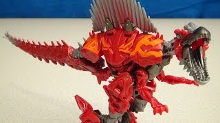TRANSFORMERS 4 DINOBOT SCORN AGE OF EXTINCTION VIDEO TOY REVIEW