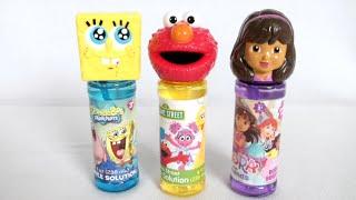 sesame street elmo dora the explorer and spongebob bubble toys from little kids inc