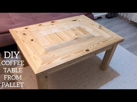 Paletten Sehpa Yapımı / Making A Coffee Table From Pallets / Coffee Table Diy / Mesa De Paletes