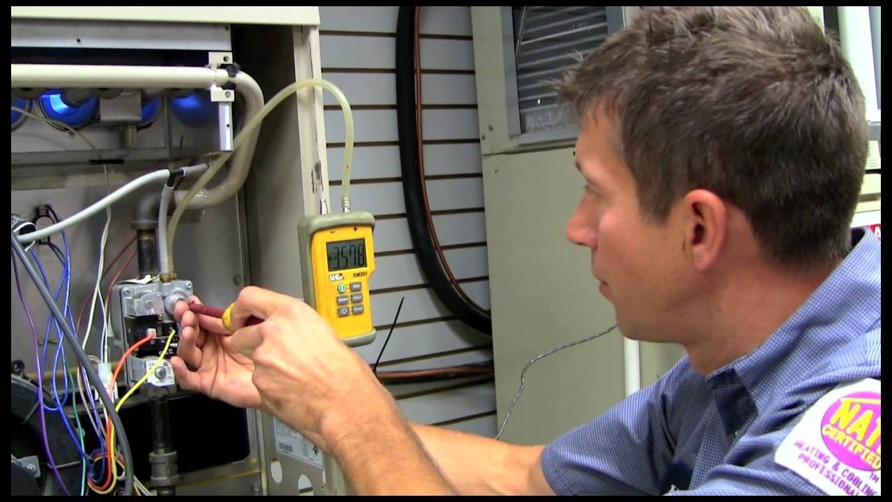 Setting Gas Pressure On A High Efficiency Furnace Youtube Weathermaker Infinity Goodman Wiring Diagram