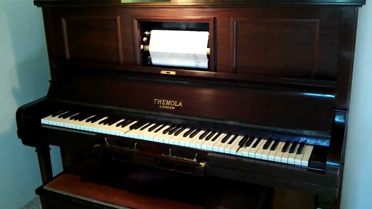 1928 themola london pianola cowboy saloon roll youtube