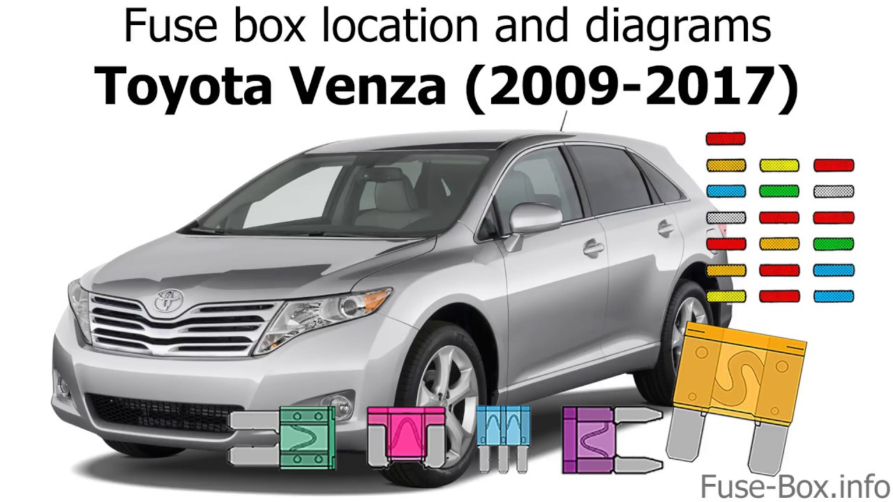 fuse box location and diagrams toyota venza 2009 2017  [ 1280 x 720 Pixel ]