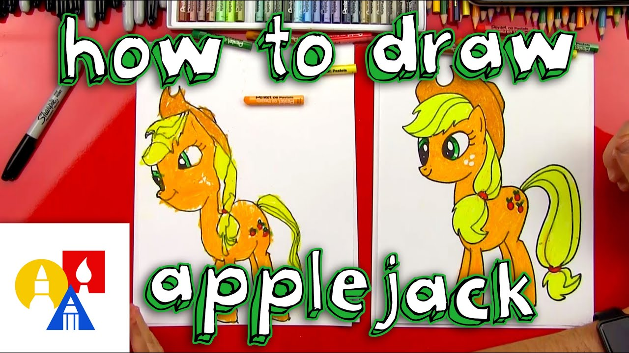 how to draw applejack my little pony youtube