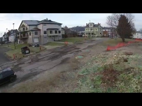 Aerial flight Wheeling, West Virginia - HD