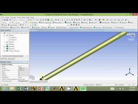 Air Flow Analysis Part 4: Round Duct Rendering