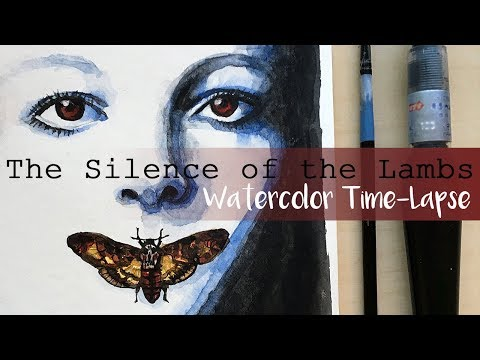 watercolor-time-lapse-|-the-silence-of-the-lambs-|-fan-art-by-m3lart