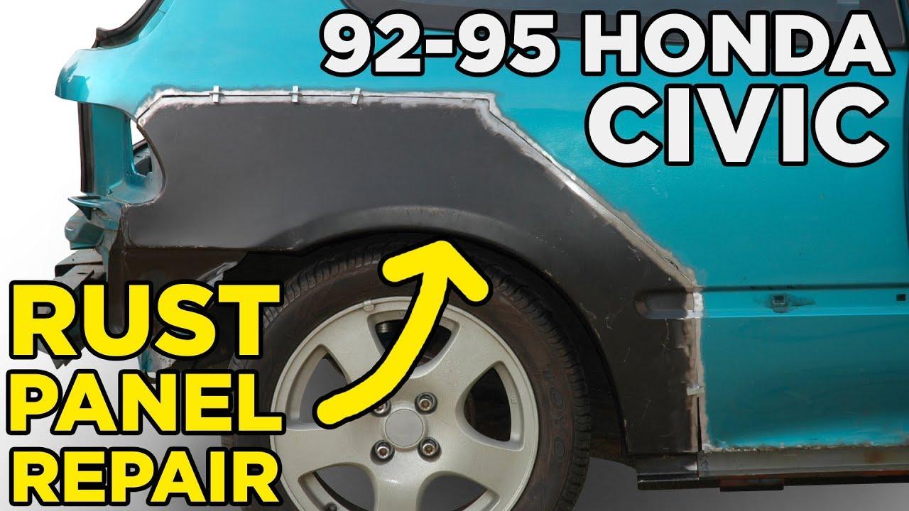 Honda Civic EG Rear Quarter + Rocker Panel Rust Repair - Slideshow