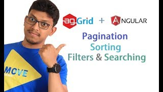 agGrid + angular: Pagination, Sorting, Searching and filters [data table]