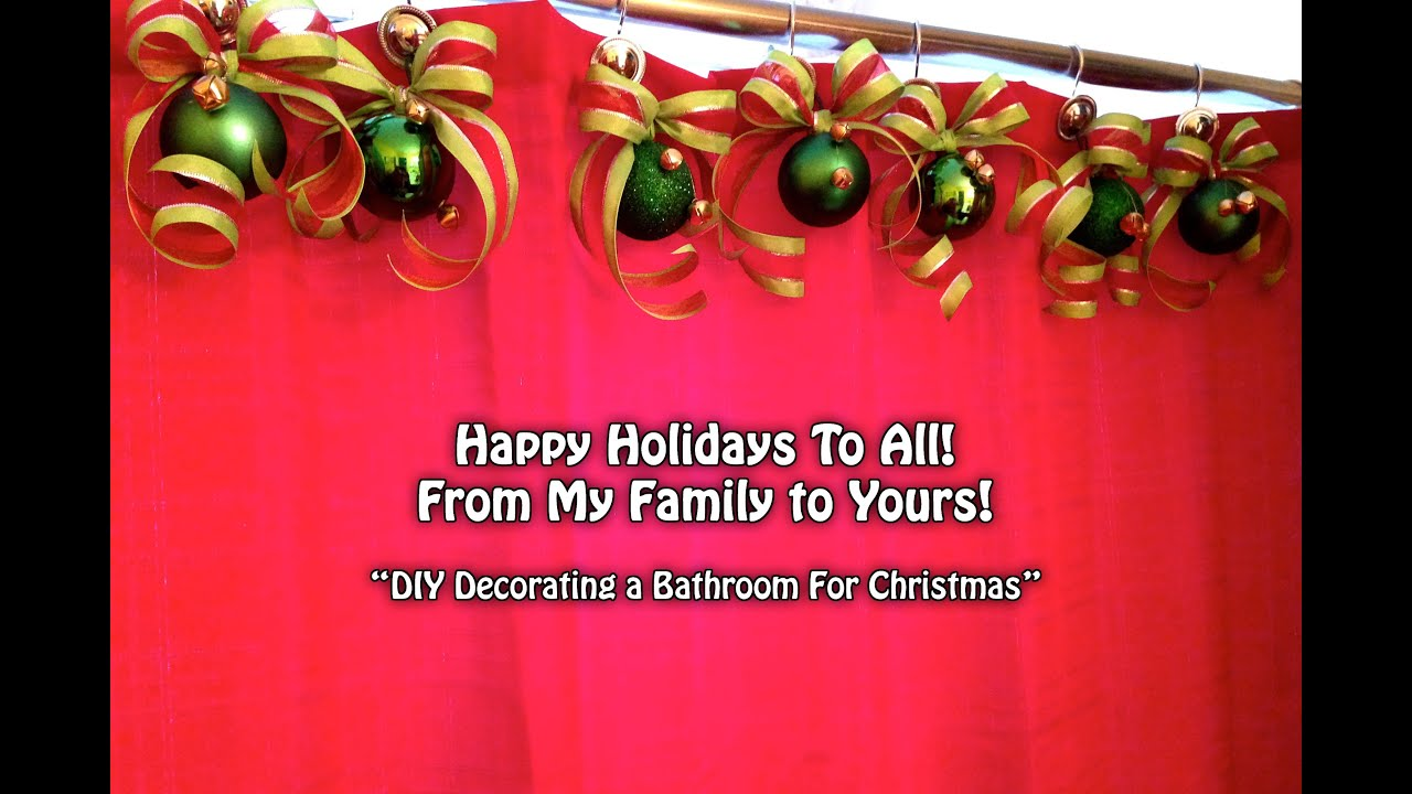 diy decorating a bathroom for christmas youtube - Christmas Bathroom Decor Ideas