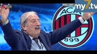 """DirettaStadio 7Gold Milan Inter 1-0 Tiziano Crudeli: """"CU CU CU CU-TRONE!"""""""