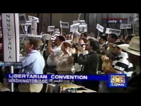 Harry Browne Libertarian candidate for President 1996, Pt. 1/3