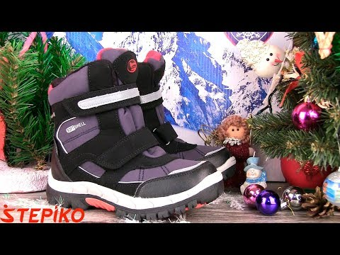 Детские зимние термоботинки American Club 849-18-1. Видео обзор от Stepiko.com