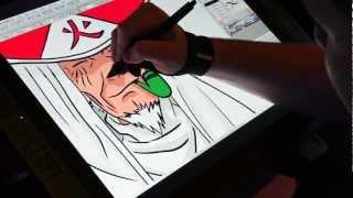 Drawing The Third Hokage On The Wacom Cintiq 21ux