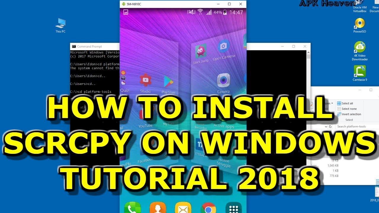 SCRCPY 2018 - Download and Installation Tutorial