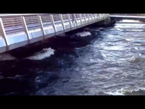 This is how fast the Corrib river (Abhainn na Gaillimh) moves in Galway, Ireland. Up to 75mph!