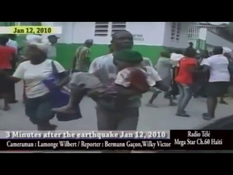 HAITI EARTHQUAKE 3 MINUTES AFTER ON JANUARY 12 2010 at Port