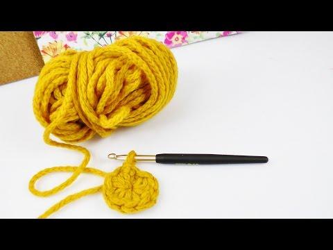 Häkeln lernen | Häkeln in Runden – Grundlagen für Anfänger | magischer Ring | DIY