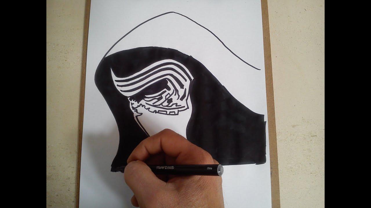 kids how to draw kylo ren
