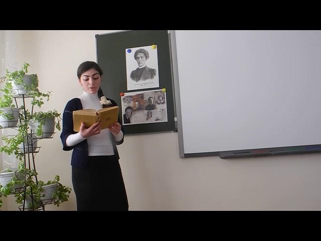 Изображение предпросмотра прочтения – ФерузаХасанова читает произведение «В ресторане» А.А.Блока