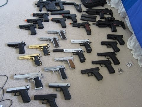 Biggest Airsoft Gas Blowback Collection (Over 25 Guns) As Of 7/26/13