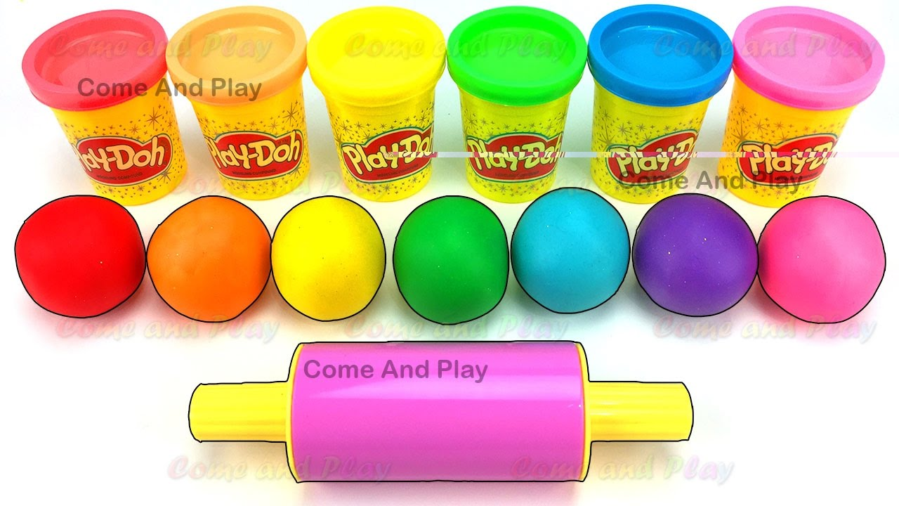 Toys R Us Ball Color : Learn colors with play doh balls and ball cups surprise toys