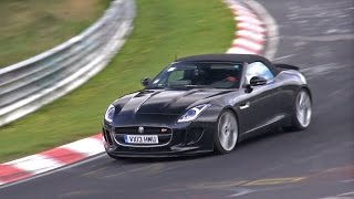Jaguar F-Type S V6 testing with manual gearbox on the Nurburgring!