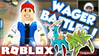 CRAZY POKEMON WAGER BATTLES LIVE!! - Pokemon Brick Bronze (Roblox)
